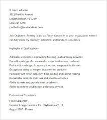 carpenter resume template –   free samples  examples  format    finish carpenter resume samples
