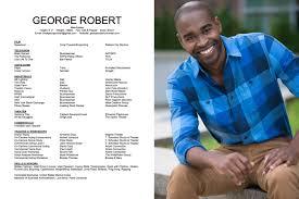 resume george robert