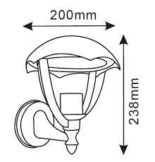 Lanterna Da Parete : Lanterna da parete led v tac vt vendita illuminazione