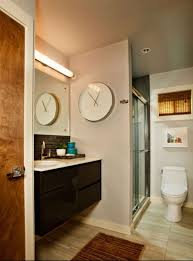 small bathroom clock: brilliant decorating large round decorative wall clocks for small bathroom also bathroom clock