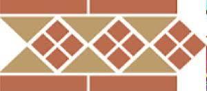 <b>Бордюр керамический</b> Border LISBON-1 with 1 strip (Tr.03, Dots 04 ...