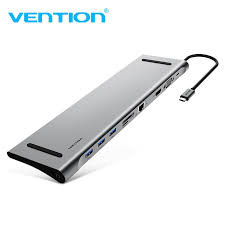 <b>Vention All</b> in <b>1</b> USB <b>Type C</b> HUB <b>USB C</b> to HDMI VGA Converter ...