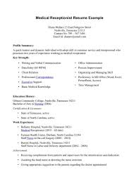 resume examples medical receptionist resume samples medical medical assistant resume resume examples bachelor of science medical administration resume medical administration medical administration resume
