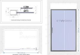<b>Душевая дверь</b> в нишу STWORKI Стокгольм DE019D2120200 <b>120</b> ...