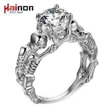 Ghost evil Skull skeleton Hand CZ Ring <b>European and American</b> ...