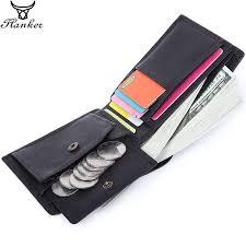 <b>Flanker</b> 100% <b>Genuine Leather Men</b> Small Wallet Casual Short Slim ...