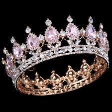 Hot sale <b>New</b> Fashion <b>Elegant Pink Crystal</b> Bridal crown classic ...