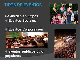 Resultado de imagen de eventos populares