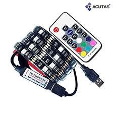 Home & Garden String & Fairy Lights <b>5V RGB USB</b> Powered <b>LED</b> ...