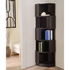 corner furniture. furniture of america laina geometric espresso 5shelf corner bookshelf walmartcom a