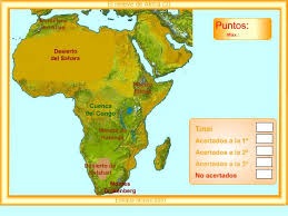 Resultat d'imatges de mapa relieve AFRICA