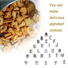 Buy Generic <b>Cookie</b> Cutter Pastry Shaper Mold <b>26 English Letters</b> ...