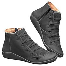 2019 New Arch Support Boots- Women's Leather ... - Amazon.com