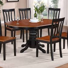Set Of 4 Dining Room Chairs East West Furniture Avon 5 Piece 60x42 Oval Dining Table Set W 4