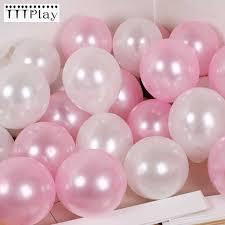 "30pcs/<b>lot</b> 10"" <b>1.5g Pearl Pink</b> White Latex Balloons Celebration ..."