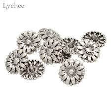 <b>Lychee 5 Pieces</b>/Set Metal Snap Button Floral Shape Sewing ...