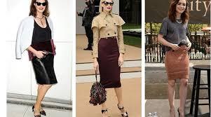 Как носить <b>юбку</b>-карандаш: три звездных примера | Журнал ...