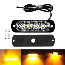 <b>1pc 12V 24V</b> 4 Led lights <b>Car</b> Trailer Truck <b>Motorcycle</b> Emergency ...
