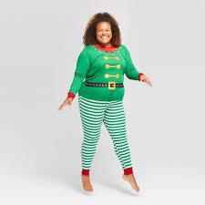 <b>Women's Plus Size Holiday</b> Elf Pajama Set - Wondershop™ Green ...