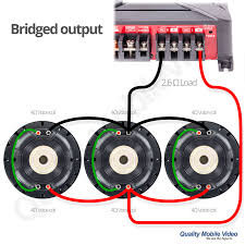 subwoofer impedance and amplifier output quality mobile video blog 3 dual voice coil subwoofer connection diagram