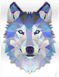 Geometric Wolf <b>Poster</b> | Products in 2019 | Geometric wolf, Wolf ...