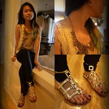 Natalie Ruth Fajardo - American Apparel Disco Pants, Forever 21 ... Natalie Ruth Fajardo - Icings Hoop Earring, Romwe Hollowed Necklace, Tjmaxx Lace Vest,