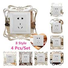 4 Pcs/Set DIY Mural Switch Surround Sticker Resin Socket ... - Vova