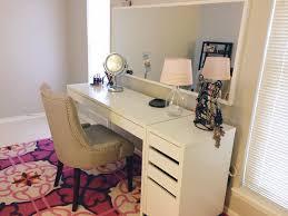 ikea micke desk and drawer as vanity dressing table idea chic ikea micke desk white