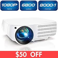 Projector 1080P Native 6800 Lumens HDMI Movie ... - Amazon.com