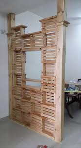 recycled pallet office room divider awesome divider office room