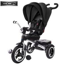 <b>Велосипед трехколесный RT Icon</b> 6 Luxe Aluminium black ...