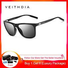 <b>VEITHDIA Unisex Retro Aluminum</b> TR90 Polarized Sunglasses ...