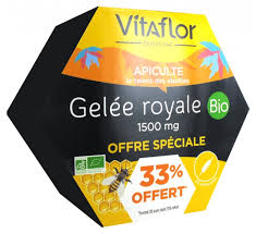 Vitaflor <b>Royal Jelly 1500mg</b> Organic 20 Phials Special Offer
