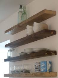 Diy Kitchen Wall Shelves Floating Shelves For Kitchen Cozy Room With Custom Wood