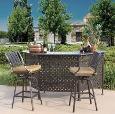 image of outdoor bar furniture high chairs attractive rod iron patio
