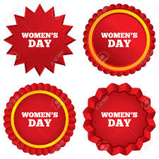 women s day sign icon holiday symbol red stars stickers women s day sign icon holiday symbol red stars stickers certificate emblem labels