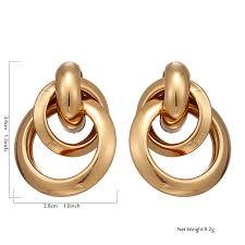 Yhpup <b>Korean Simple</b> Design Brand Round <b>Geometric</b> Dangle ...