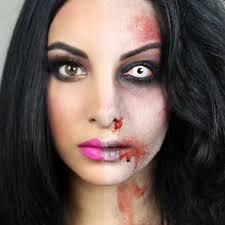 half zombie makeup tutorial zombie makeup tutorial for