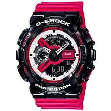 Купить кварцевые <b>часы Casio</b> G-Shock <b>ga</b>-<b>110rb</b>-<b>1aer</b> Black/Pink в ...