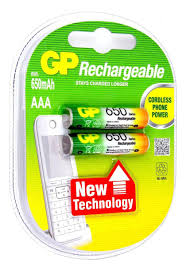 "<b>Аккумулятор</b> ""<b>GP</b> Batteries"", тип <b>ААА</b>, 650 mAh, 2 шт"