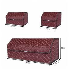 Multi-Function PU Leather <b>Car Storage Car Trunk Storage Box</b> ...