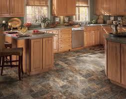 ideas kitchen flooring options walnut tile unique kitchen flooring option with gray color feat wicker barstool de