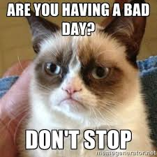 Are you having a bad day? don't stop - Grumpy Cat | Meme Generator via Relatably.com