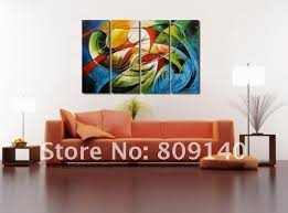 group oil painting canvas modern abstract decorative artwork high quality handmade home office hotel wall art decor free shippin artwork for office walls