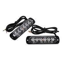 <b>2pcs</b> 12/24V 6 <b>LED</b> Emergency Warning Light Car <b>Strobe</b> Hazard ...