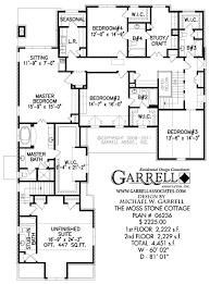 Moss Stone Cottage House Plan   House Plans by Garrell Associates        moss stone cottage house plan   nd floor plan