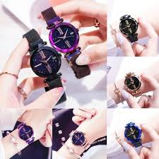 Ready Stock <b>Women</b> Watches <b>Starry Sky</b> Magnetic Strap Lazy <b>Girl</b> ...