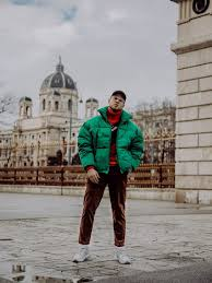 Winter Outfits for Men - Oversized Puffer Jacket and <b>Corduroy</b> Pants