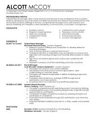 marketing resume examples marketing sample resumes livecareer brand manager resume example