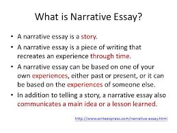 unit  narrative essay what is narrative essay a narrative essay  what is narrative essay a narrative essay is a story a narrative essay is